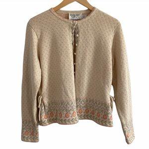 Vintage sweater Components by Susan Bristol floral
